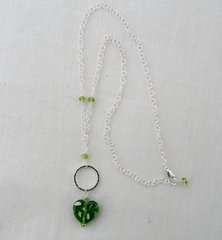 Handcrafted Heart Shaped Glass Bead with Sterling Silver