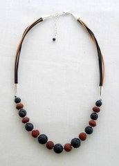 Lava and Leather Necklace