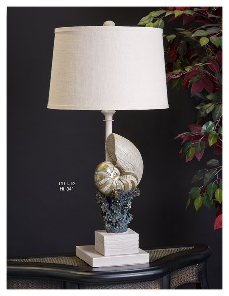 Conch shell and coral table lamp buy authentic design lamps on conch shell and coral table lamp mozeypictures Images