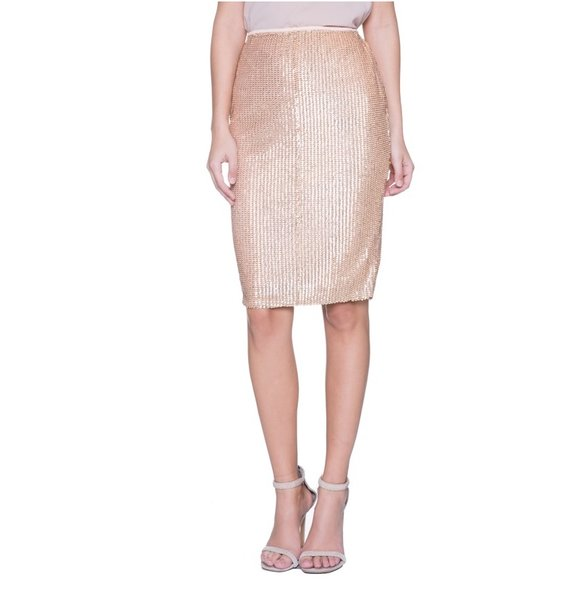 Rose Gold Sequin Skirt | GIA GLAM BOUTIQUE