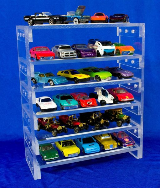 Toy Car Rack : Collectable toy car display rack scale kansas