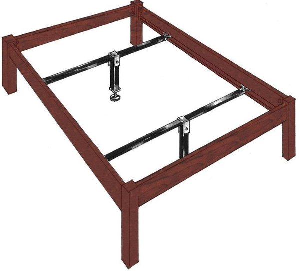 Bed Frame Support For Wood Rails