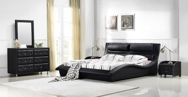 Black Contemporary Bedroom Set napoli modern bedroom set ( black) | modern furniturematisse