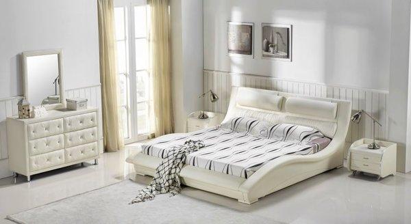 white modern platform bed. Napoli Modern Platform Bed (White) White R