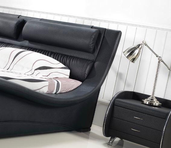 Napoli modern bedroom set black modern bedroom - Contemporary bedroom furniture houston ...