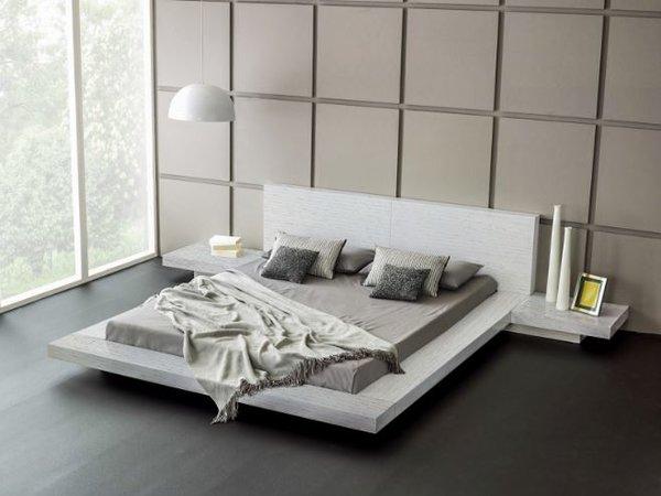 fujian modern platform bed ash white