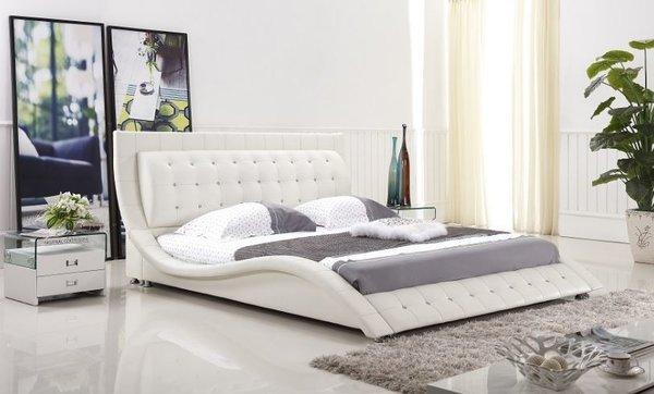 dublin modern platform bed white