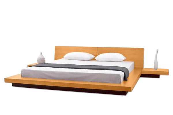 Fujian Modern Platform Bed Oak Modern Bedroom Furniture Set New York Houston Sacramento