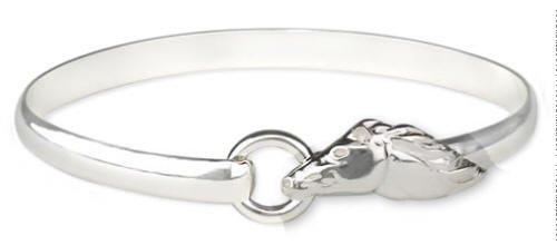 Mustang Horse Head Bangle Bracelet