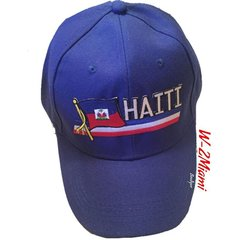 Haiti Flag Embellish Cap Unisex Velcro