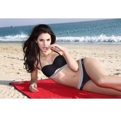 Stylish Convertible Black 2 Piece Bikini