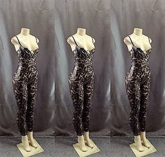 Leopard Latex One Piece Jumpsuit