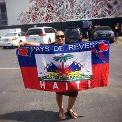 FLAG OF HAITI BEACH TOWEL