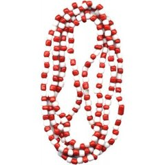 Santeria Bead Necklace Chango Red And White - Blessed Beads Beadz by Scorpiomvp