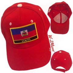 Haiti Flag Embellish Snapback Hats Unisex