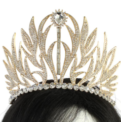 CRYSTAL LEAF CROWN TIARA
