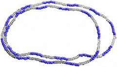 Santeria Bead Necklace Yemaya Blue And Clear - Blessed Beads Beadz by Scorpiomvp