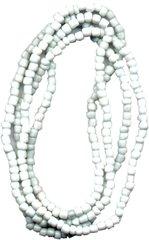 Santeria Bead Necklace Obatala White - Blessed Beads Beadz by Scorpiomvp