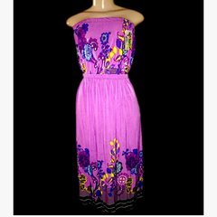 Tube Top Purple Maxi Dress