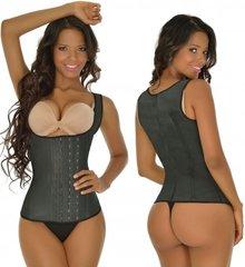 W2M Classic 3 Hooks Latex Girdle Vest For Women