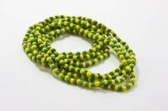 Santeria Bead Necklace Orula Green And Yellow - Blessed Beads Beadz by Scorpiomvp