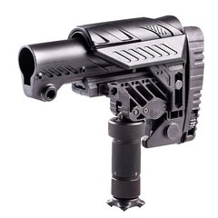 CAA ARS Sniper AR-15 Stock with Monopod Leg Black