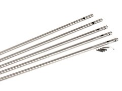 Gas tube stainless steel system with roll pin