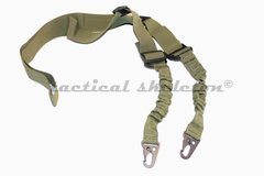 Tactical one or two point rifle sling w quick detach hooks OD Green