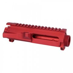AR15 STRIPPED BILLET UPPER RECEIVER (RED)