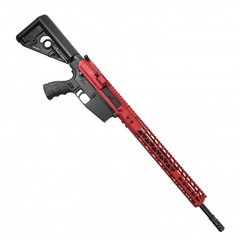 "AR .308 CAL STRIPPED BILLET UPPER RECEIVER & 15"" AIRLITE SERIES KEYMOD HANDGUARD COMBO SET (RED)"