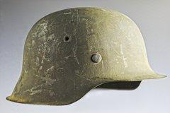 BEAUTIFUL UNISSUED WWII GERMAN M42 COMBAT HELMET **SOLD**