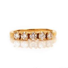Yellow Gold Round Diamond Band