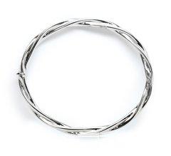 14k white gold Twisted Bangle Bracelet