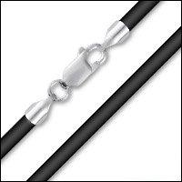"18"" Black Neoprene Necklace"