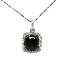Black and White Diamond Pendant Necklace