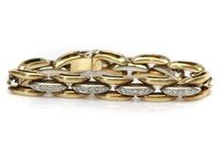 Yellow Gold and Diamond Link Bracelet