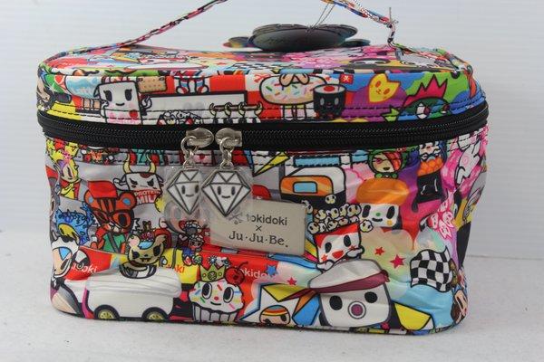 Ju-Ju-Be x Tokidoki Be Ready Makeup Bag in Sushi Cars PLACEMENT B Popcorn Savana