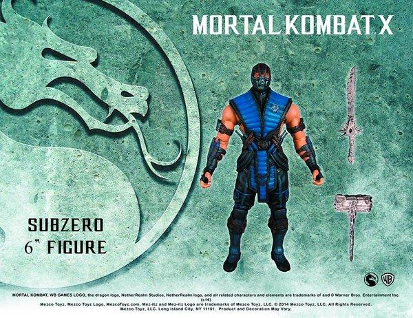 """Mezco Toys Mortal Kombat X Sub-Zero 6"""" inch"""