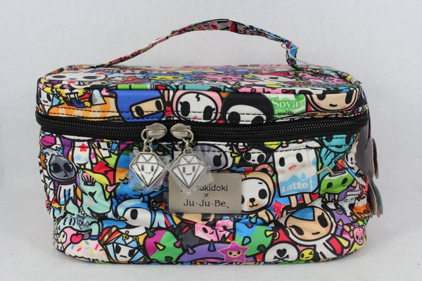 Ju-Ju-Be x Tokidoki Be Ready Makeup Bag in Iconic 2.0 PLACEMENT A Latte Sirena Mozz
