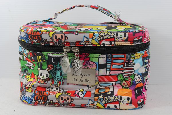 Ju-Ju-Be x Tokidoki Be Ready Makeup Bag in Sushi Cars PLACEMENT C Biscotti Sandy Donutella