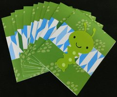 CATERPILLAR GREEN NOTE CARDS