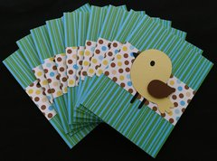 BIRD YELLOW NOTE CARDS