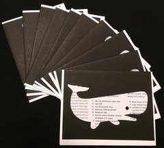 BOOK RECIPE NOTE CARDS WHALE BLACK 1