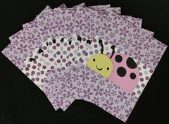 LADYBUG LIGHT PINK NOTE CARDS