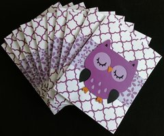 OWL LIGHT PURPLE NOTE CARDS