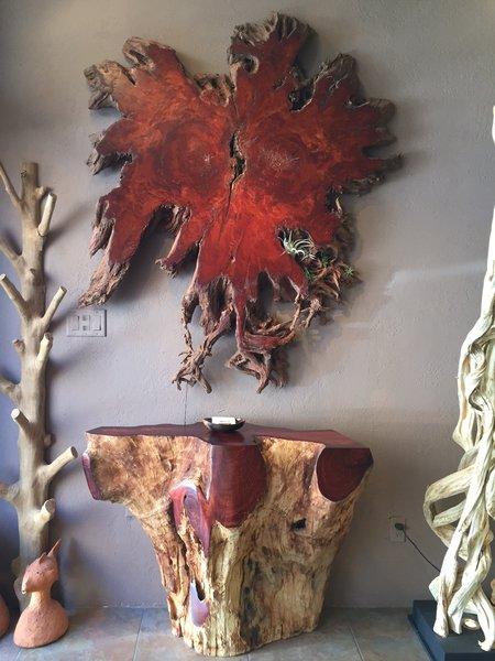 Tree Root Slice Art Lychee Sequoia Santa Fe