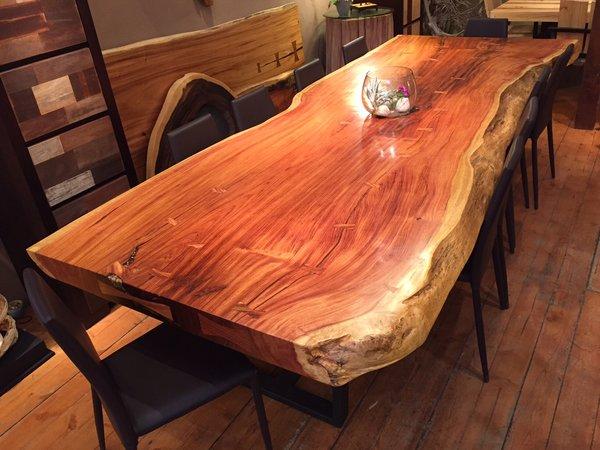 Live Edge Large Maka Dining Table Sequoia Santa Fe
