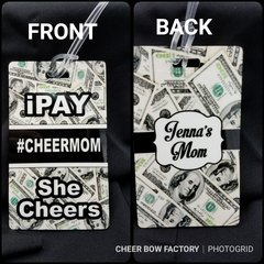 iPay She Cheers #cheermom or #cheerdad Bag Tag