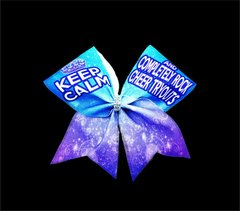 Keep Calm and Completely Rock Cheer Tryouts Glitter Cheer Bow