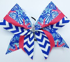 Lilly Inspired Starfish Glitter Cheer Bow